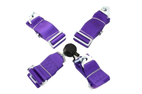 """Pasy sportowe 4p 3"""" Purple - Quick - GRUBYGARAGE - Sklep Tuningowy"""